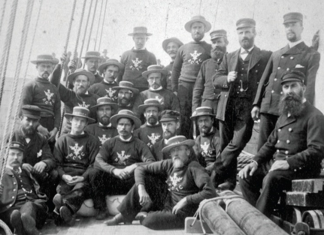 Thistle crew Erie Basin by JS Johnston courtesy Long Island Maritime Museum
